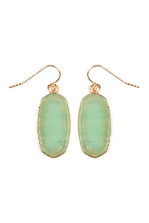S5-4-2-AVE2128GDOL OLIVE MINI NATURAL STONE EARRING/6PAIRS