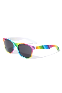S1-8-2-W-403-RAINB - CLASSIC RAINBOW SUNGLASSES /12PCS