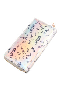 S7-5-4-AWA0068-6 UNICORN HOLOGRAPHIC WALLET/6PCS