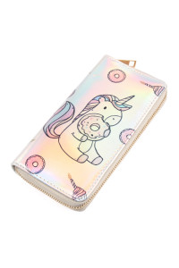 S7-4-4-AWA0068-7 UNICORN HOLOGRAPHIC WALLET/6PCS