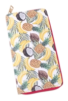 S27-8-1-WA0072-4 - FRUITS DIGITAL PRINTED SINGLE METAL ZIPPER WALLET/6PCS