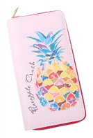 S27-8-1-WA0072-6 - FRUITS DIGITAL PRINTED SINGLE METAL ZIPPER WALLET/6PCS