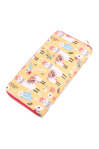 S7-4-4-AWA0073-2 ANIMALS DIGITAL PRINTED SINGLE METAL ZIPPER WALLET/6PCS