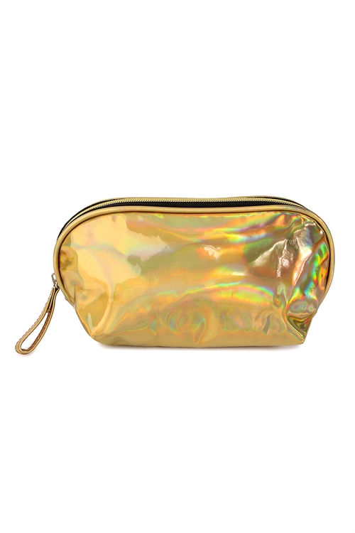 S4-6-1-AXBG8148G GOLD IRRIDESCENT COSMETIC WRISTLET BAG/6PCS