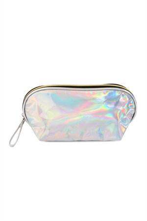 211-3-4-AXBG8148S SILVER IRRIDESCENT COSMETIC WRISTLET BAG/6PCS