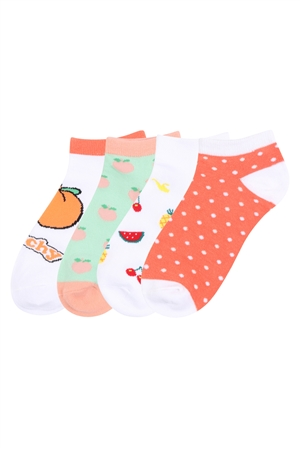 S20-2-3-Z-74475- ASSORTED COLORFUL FRUITS WOMEN SOCKS/12PAIRS