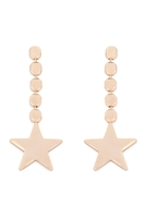 S25-2-4-ZEA539GD-STAR DANGLING EARRING-GOLD/6PCS