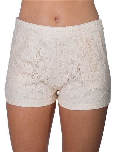 Women's High Rise Lace Shorts