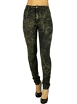 1936N-R2412-Black-Gold-High Waist Acid Wash Skinny Fit Denim/ 1-1-2-2-2-2-1-1