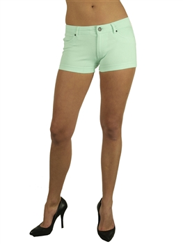 1944N-651-Aqua-Ponte Shorts w/ Back Pockets/ 2-2-2