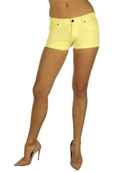 1944N-651-Lemonade-Ponte Shorts w/ Back Pockets/ 2-2-2