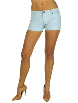 1944N-651-Sky-Ponte Shorts w/ Back Pockets/ 2-2-2