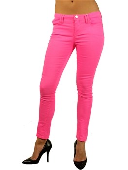 1952N-1423-Neon-Pink-Five Pocket Skinny Fit Pant/ 1-2-2-2-2-2-1