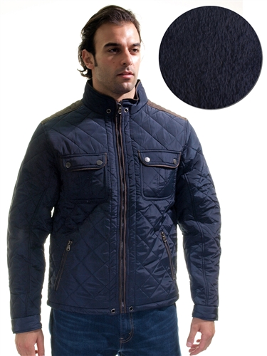 1970N-QRR150037-Navy- Men's Quilted Fur LinedJacket / 1-2-2-1