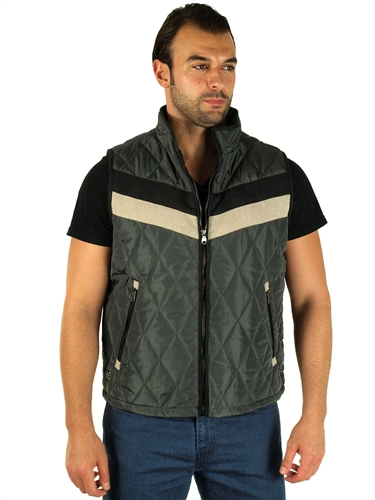 1970N-RR150020- Oxford - Men's Quilted Fur LinedVest  / 1-2-2-1