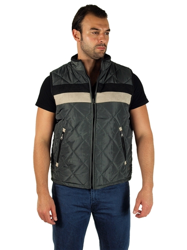 1970N-RR150021- Oxford- Men's Quilted Fur LinedVest  / 1-2-2-1