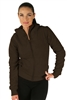 1981N- 8051 - Brown - Ladies Hooded Jacket with Zipper/2-2-2