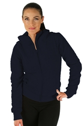 1981N- 8051 - Navy -Hooded Jacket with Zipper/2-2-2