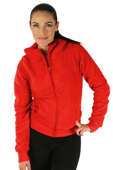 1981N- 8051 - Red -Hooded Jacket with Zipper/2-2-2