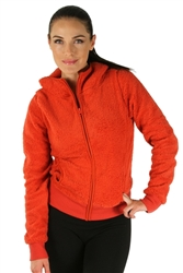 1981N- 8051 - Rust -Hooded Jacket with Zipper/2-2-2
