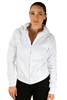 1981N- 8051 - White -Hooded Jacket with Zipper/2-2-2