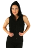 1981N- 8052 - Black -Hooded Vest with Zipper/2-2-2