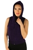 1981N- 8052 - Grape -Hooded Vest with Zipper/2-2-2