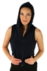 1981N- 8052 - Navy -Hooded Vest with Zipper/2-2-2