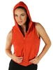 1981N- 8052 - Rust -Hooded Vest with Zipper/2-2-2