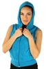 1981N- 8052 - Turquoise -Hooded Vest with Zipper/2-2-2