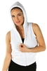1981N- 8052 - White -Hooded Vest with Zipper/2-2-2
