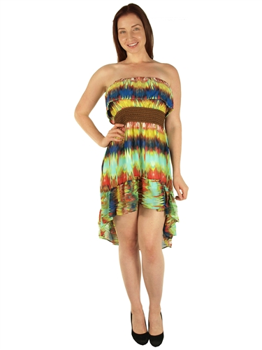 1984N - 60068 - Mint -Hi Lo Dress with Ruffled Neck and Hem/1-2-2-1