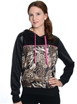 2030N-70494R-Ladies Pull Over Scuba, Quilted, Animal Print Hoodie Sweatshirt/ 1-2-2-1