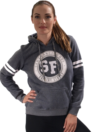2030N-FH-95-Charcoal-Fleece Double Hood Sweatshirt/ 1-2-2-1