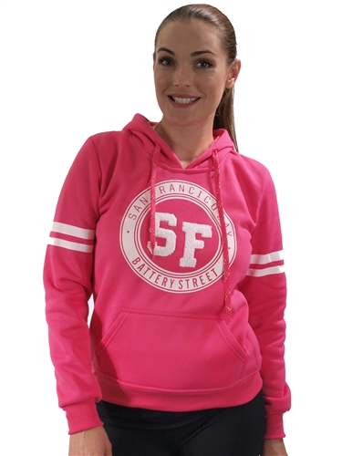 2030N-FH-95-Fuchsia-Fleece Double Hood Sweatshirt/ 1-2-2-1