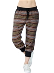 2067N-KMFW-40-Multi Color-  Tribal Print Joggers / 1-1-2-2-2