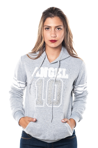 3038N-FH-151-Grey-Fleece Double Hood Sweatshirt/ 1-2-2-1