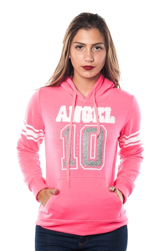 3038N-FH-151-N Fuchsia-Fleece Double Hood Sweatshirt/ 1-2-2-1
