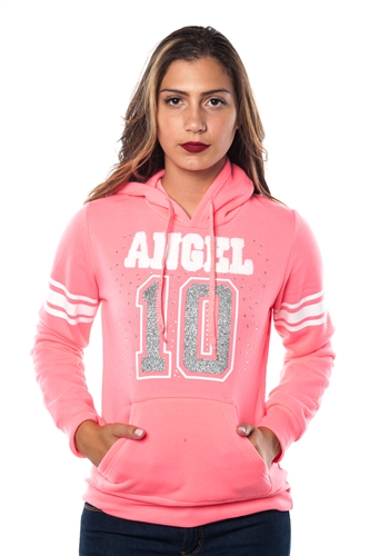 3038N-FH-151-N Pink-Fleece Double Hood Sweatshirt/ 1-2-2-1