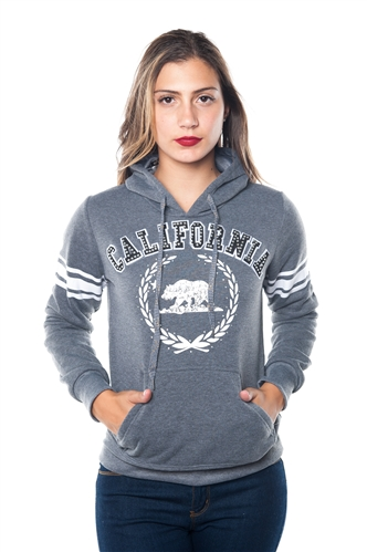 3038N-FH-155X-Charcoal-Plus Size Fleece Double Hood Sweatshirt/ 2-2-2