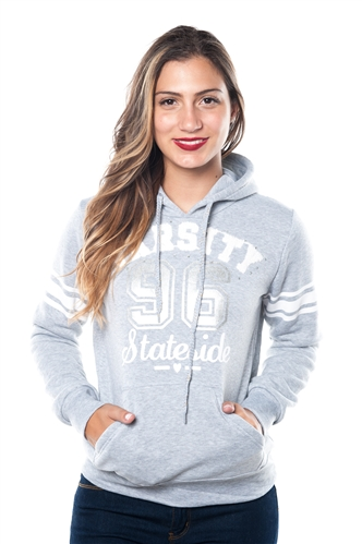 3038N-FH-158-Grey-Fleece Double Hood Sweatshirt/ 1-2-2-1