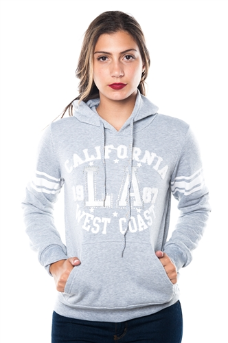 3038N-FH-159X-Grey-Plus Size Fleece Double Hood Sweatshirt/ 2-2-2