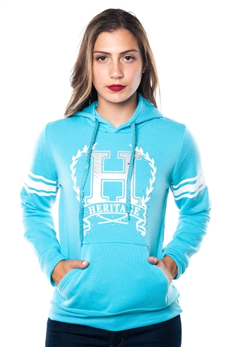 3038N-FH-163-D Blue-Fleece Double Hood Sweatshirt/ 1-2-2-1
