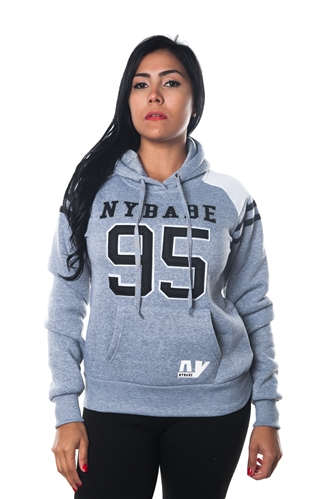 3038N-FHB-1141-Grey-Ladies Fleece Double Hood Sweatshirt/ 1-2-2-1