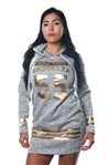 Ladies Fleece Double Hood Sweatshirt, Embellished with Appliques and Drawstring by Special One/ 1-2-2-1