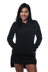 Women Plus Size High Low Casual Mini Dress Hoodie Sweatshirt with Drawstring & Pockets by Special One