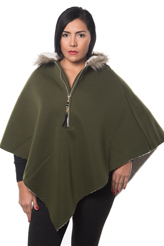 3038N-SOC50-Olive Cardigan Hooded Sweater / 1-2-2-1