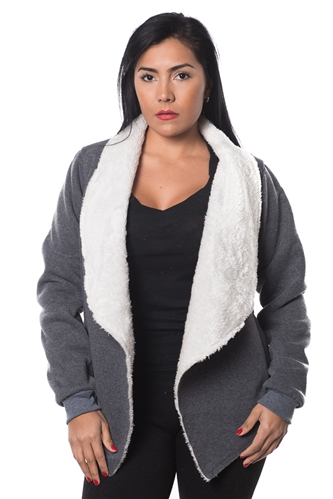 3038N-SOC51-Charcoal Cardigan Sweater / 1-2-2-1