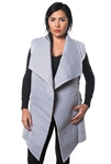 3038N-SOC52-Grey Cardigan Vest / 1-2-2-1