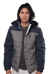 3040N-3JA3024-Navy Milk - Men's Quilted Fur LinedJacket/ 1-2-2-1
